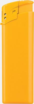 Gul Klassiska, enfärgade tändare med reklamtryck