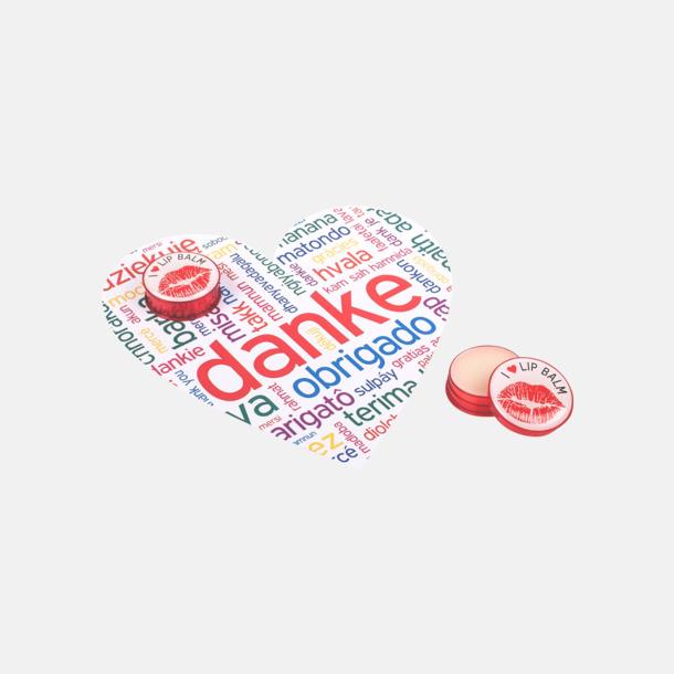 Heart Card (se tillval) Läppcerat på burk med domning tryck
