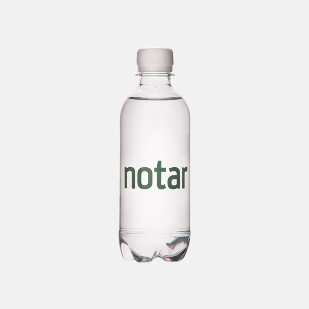 Transparent etikett.  Vatten med egen etikett