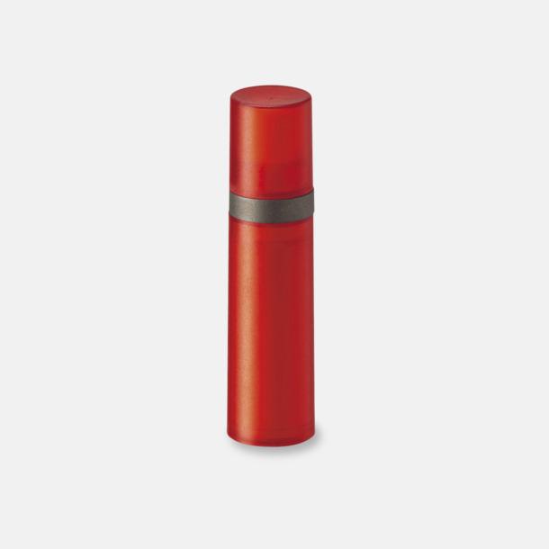 Röd Pumpsprej med olika innehåll med reklamtryck