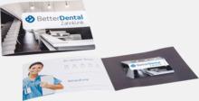 Dentocard med tandtråd med eget tryck