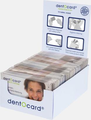 Display (se tillval) Dentocard med tandtråd med eget tryck