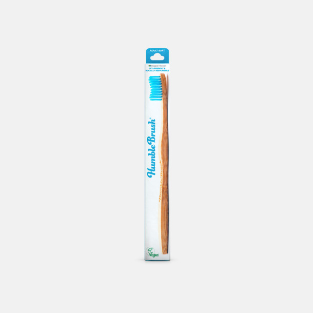 Blå Kartong Miljövänliga tandborstar i kartong med eget tryck