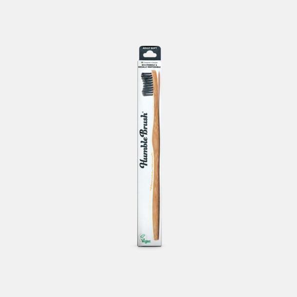 Svart Kartong Miljövänliga tandborstar i kartong med eget tryck