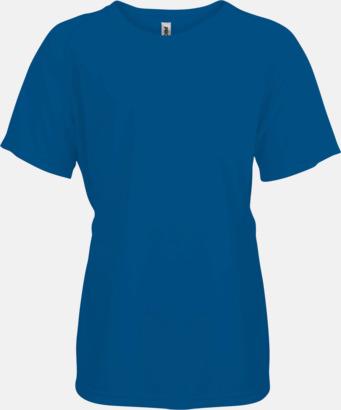 Sporty Royal Blue Funktions t-shirts i många färger för barn - med reklamtryck