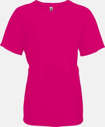 Fuchsia Funktions t-shirts i många färger för barn - med reklamtryck