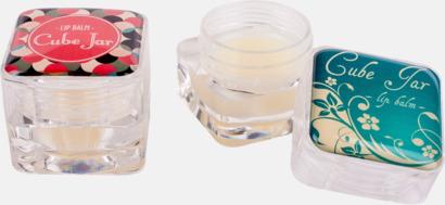 Transparent Läppbalsam i kub med lock med eget reklamtryck