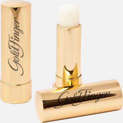 Bright Gold Eleganta lypsyl i metallfodral med graverad reklamlogga