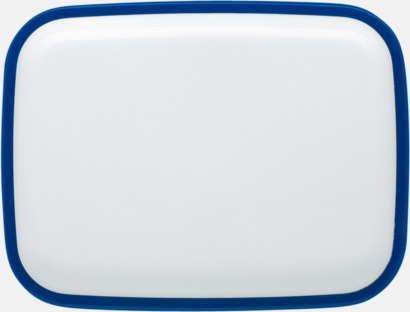 Vita lunchlådor med reklamtryck