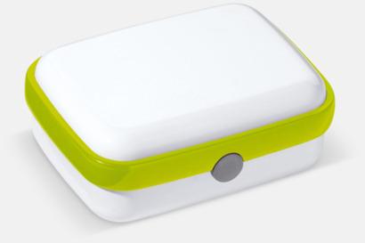 Vit/Grön Vita lunchlådor med reklamtryck