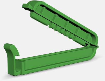 Grön Klämma med kabelhållare med reklamtryck