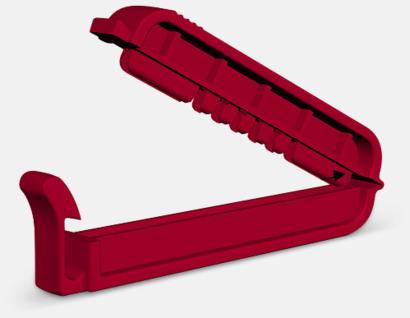 Röd Klämma med kabelhållare med reklamtryck