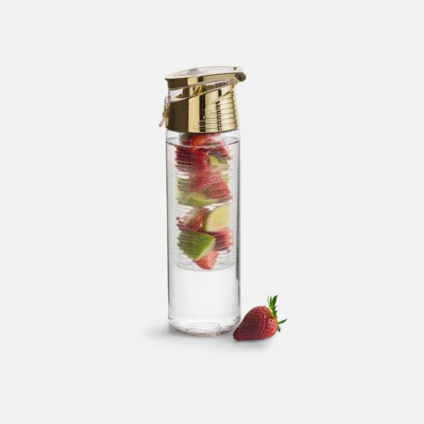Guld Vattenflaskor med fruktkolv från Sagaform