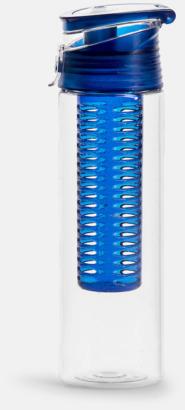 Blå Vattenflaskor med fruktkolv från Sagaform