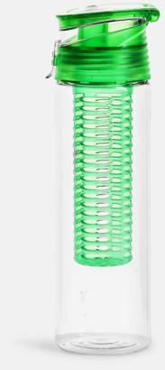 Grön Vattenflaskor med fruktkolv från Sagaform