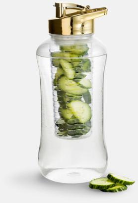 Guld Stora vattenflaskor med fruktkolv