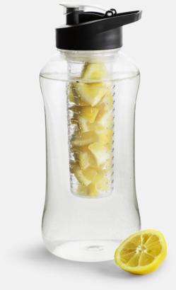 Svart Stora vattenflaskor med fruktkolv
