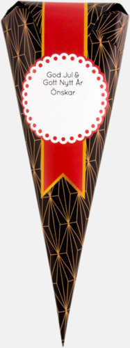 Sötlakrits (80 gram) Strutar med polkagris, kola eller skumgodis - med reklamtryck