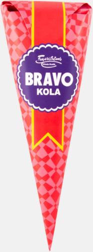BRAVO kolor (80 gram) Strutar med polkagris, kola eller skumgodis - med reklamtryck