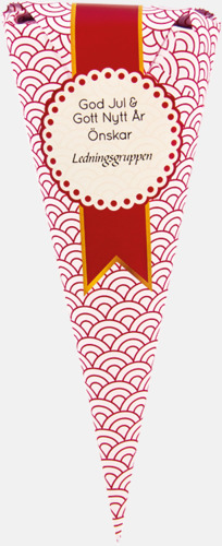 Mor Emmas karameller (80 gram) Strutar med polkagris, kola eller skumgodis - med reklamtryck