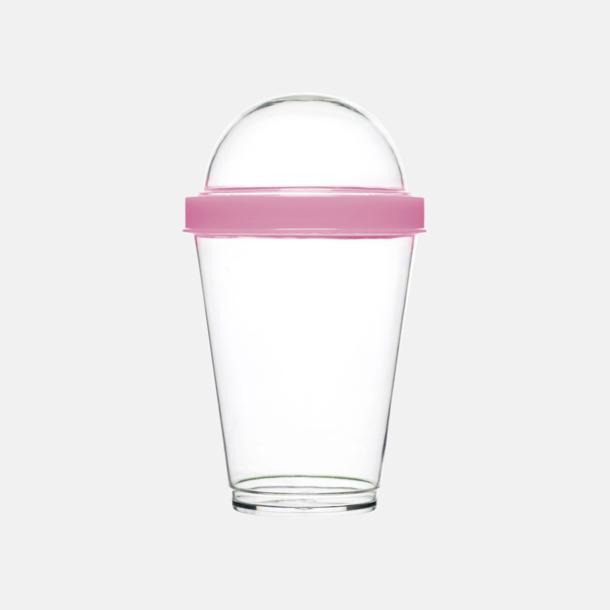 Ljusrosa Yoghurtmuggar från Sagaform med reklamtryck