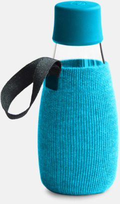 Sleeve blå (se tillval) Mindre vattenflaskor av glas med reklamtryck