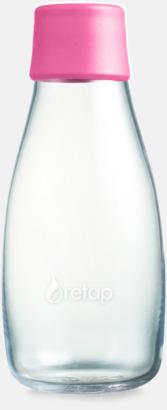 Magenta Mindre vattenflaskor av glas med reklamtryck