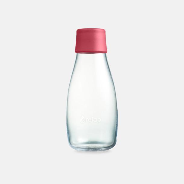 Rasberry Red Mindre vattenflaskor av glas med reklamtryck