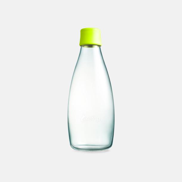 Yellow Lime Större glasflaskor med reklamtryck