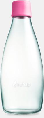 Magenta Större glasflaskor med reklamtryck