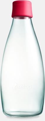 Raspberry Red Större glasflaskor med reklamtryck