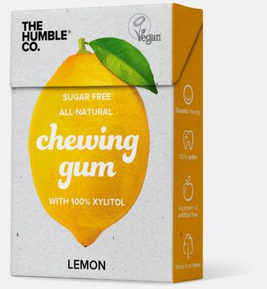 Citronsmak Tuggummin med reklamtryck