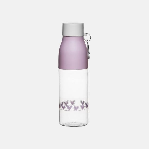 Rosa / Vit Välgörenhet vattenflaskor från Sagaform
