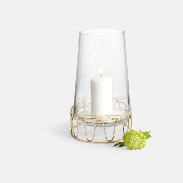 Transparent / Guld Lykta & vas från Sagaform med eget tryck från oss på Medtryck