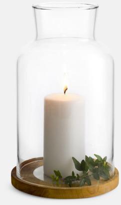 Ljuslykta i trä från Sagaform med reklamtryck
