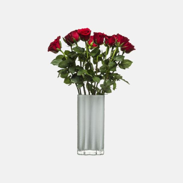 Vit Höga vaser från Sagaform med reklamtryck