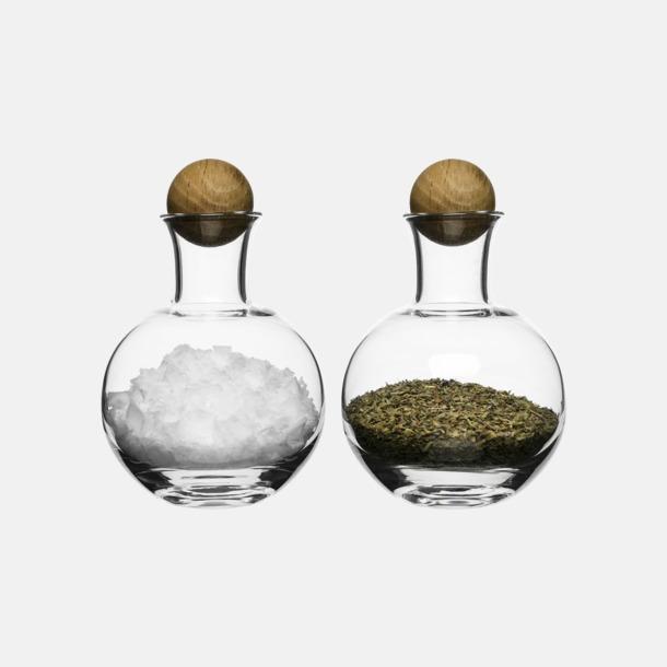 Glas serveringsflaskor med reklamtryck