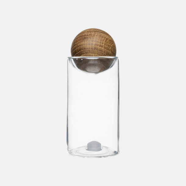 Transparent/Trä Salt- & pepparset från Sagaform med reklamtryck