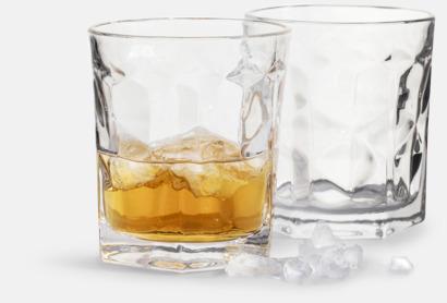 Transparent 2-pack whiskyglas från Sagaform med reklamtryck