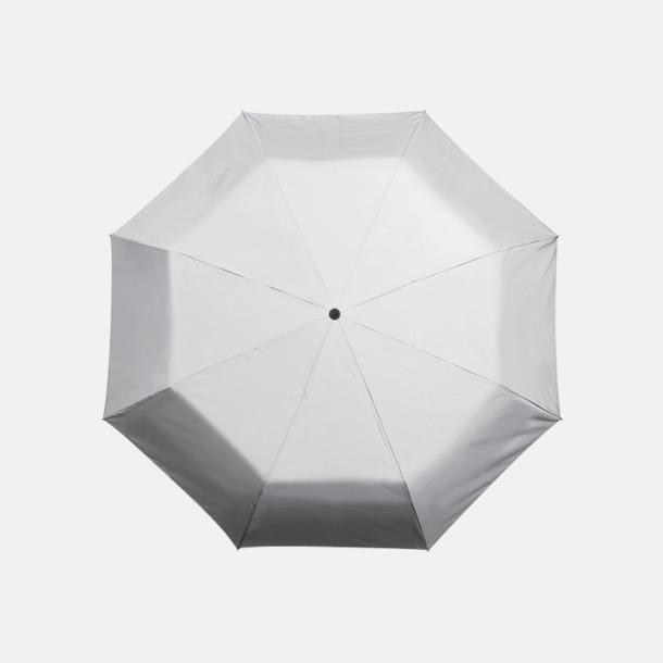 Vit/Reflex Paraplyer med tryck