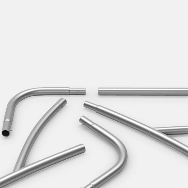 Aluminium rör Mässvägg i tyg med egen logga