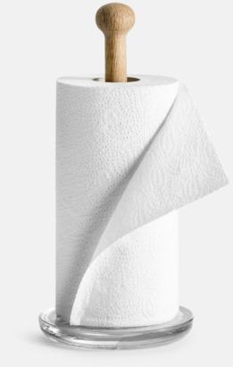Trä/Transparent Hushållspappershållare från Sagaform med reklamtryck