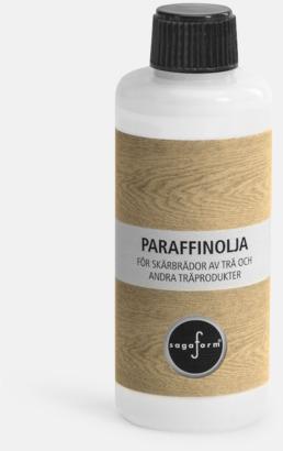Paraffinolja (se tillval) Ljuslykta i trä från Sagaform med reklamtryck