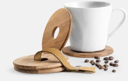 Trä 4-pack träunderlägg från Sagaform med reklamtryck