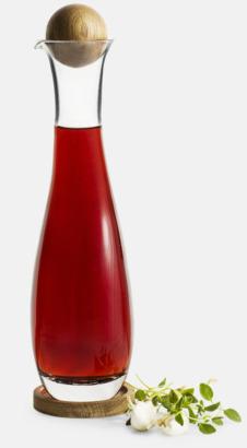 Transparent/Trä Glasflaskor från Sagaform med reklamtryck