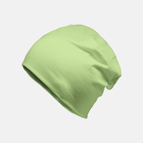 Soft Green Bomullsmössor med egen reklamlogga