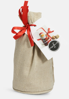 Brun / Röd Spel för att byta julklappar - med reklamtryck