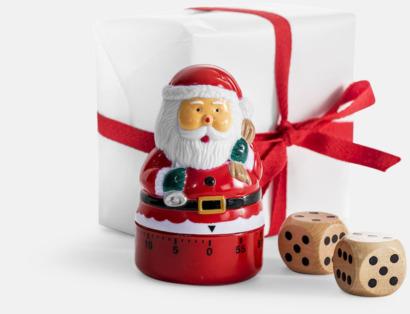 Spel för att byta julklappar - med reklamtryck
