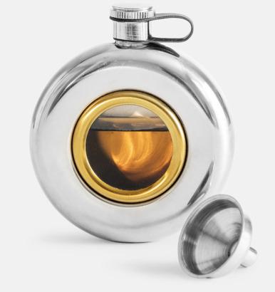 Silver / Transparent Fickpluntor med glasruta från Sagaform med reklamtryck