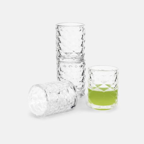 Transparent 4-pack shotglas från Sagaform med reklamtryck